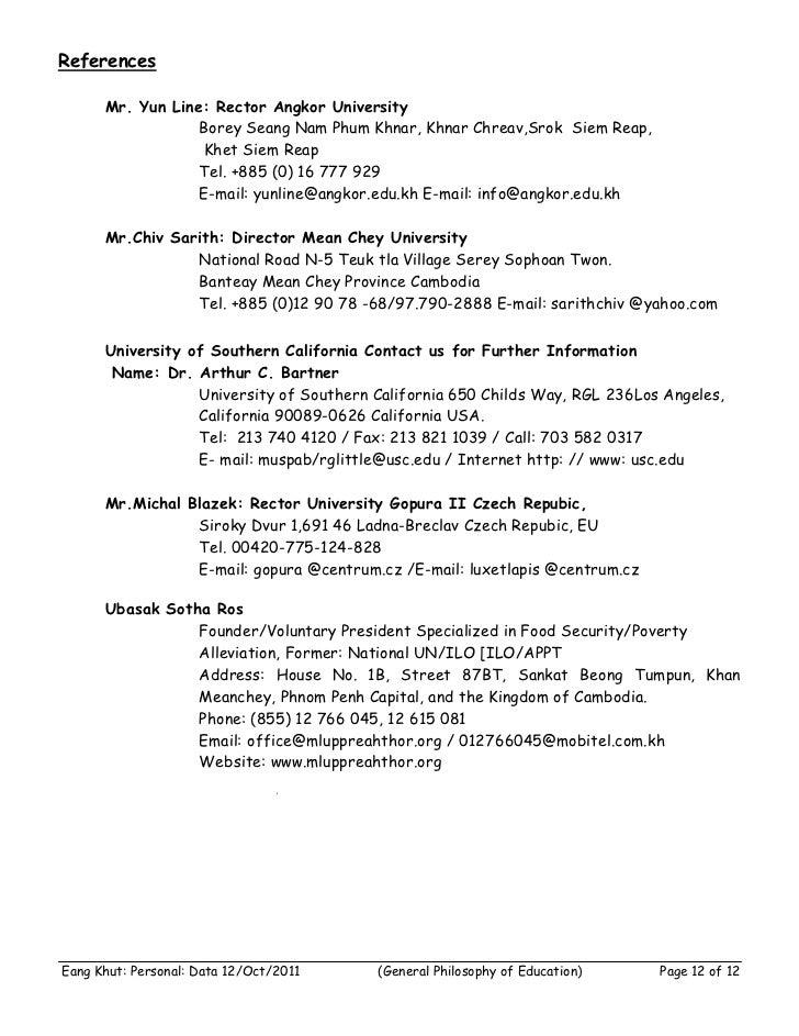References      Mr. Yun Line: Rector Angkor University                  Borey Seang Nam Phum Khnar, Khnar Chreav,Srok Siem...