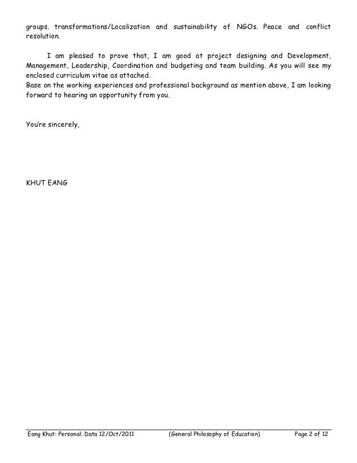 Mr Eang Khut : CV Slide 2