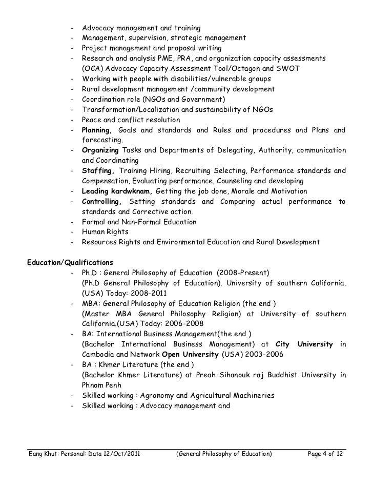 -   Advocacy management and training              -   Management, supervision, strategic management              -   Proje...