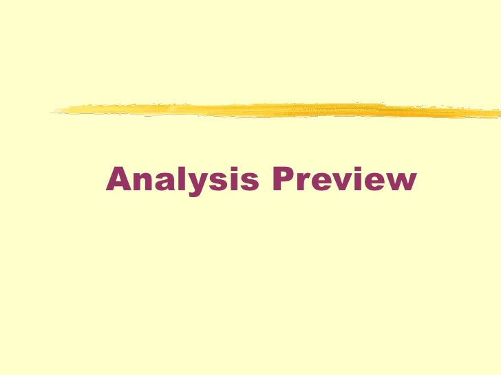 Analysis Preview