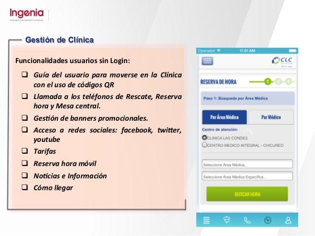 Funcionalidades  Usuarios  Con  Login:   q Listado  de  citas  del  usuario:   ü Avisos  al...