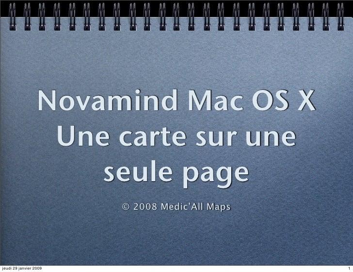 Novamind Mac OS X                    Une carte sur une                       seule page                         © 2008 Med...
