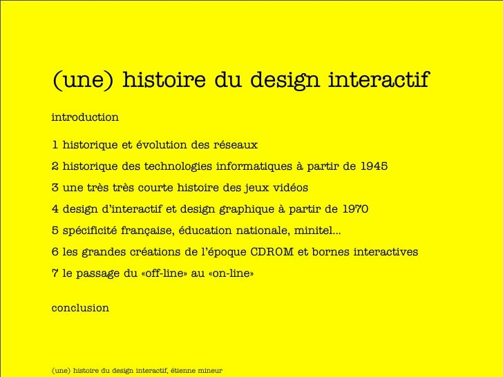 Une histoire du design interactif