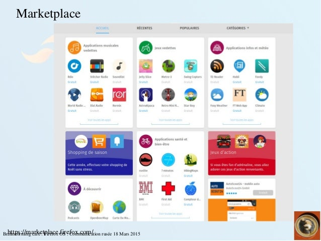 Brainstormingcafé:FirefoxOS:Communicationrusée18Mars2015https://marketplace.firefox.com/ Marketplace