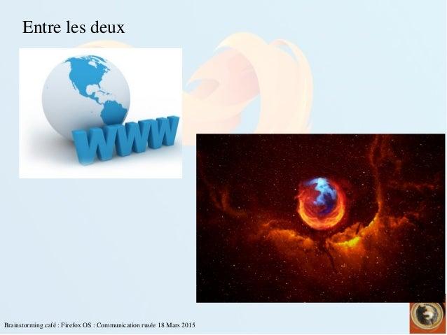 Brainstormingcafé:FirefoxOS:Communicationrusée18Mars2015 Entrelesdeux