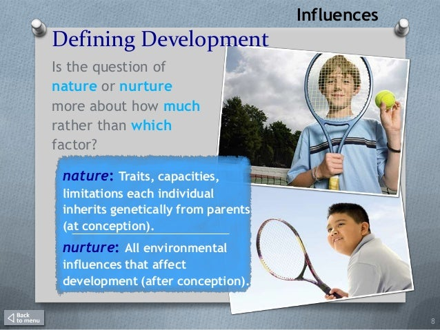 how do innate and environmental factors interact life span development Heredity and environment: meaning and effects  of the two factors, heredity or environment, is more important  is also the arbiter of our development what .