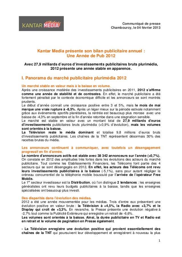 Communiqué de presse                                                            Chambourcy, le 04 février 2013           K...