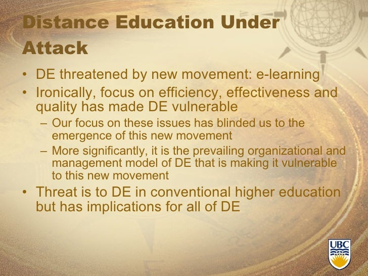 essays on the future of distance learning Earning a degree through distance education essay  distance learning education will soon become an acceptable and popular norm that shall be the wave of the future.
