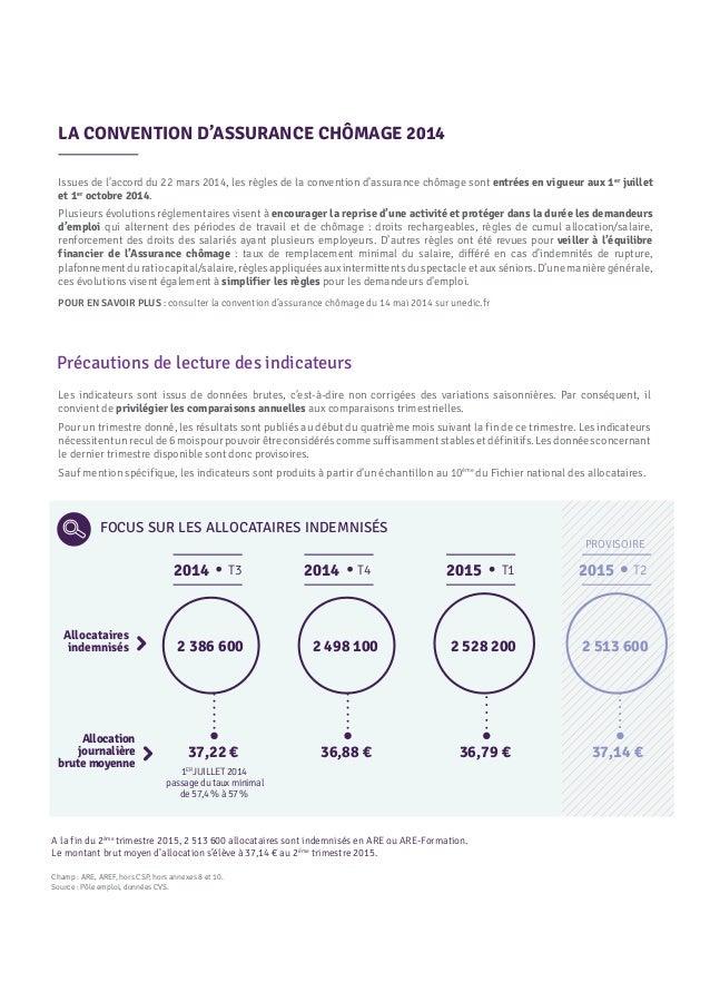 Convention d 39 assurance ch mage 2014 indicateurs de suivi for Bureau assurance emploi