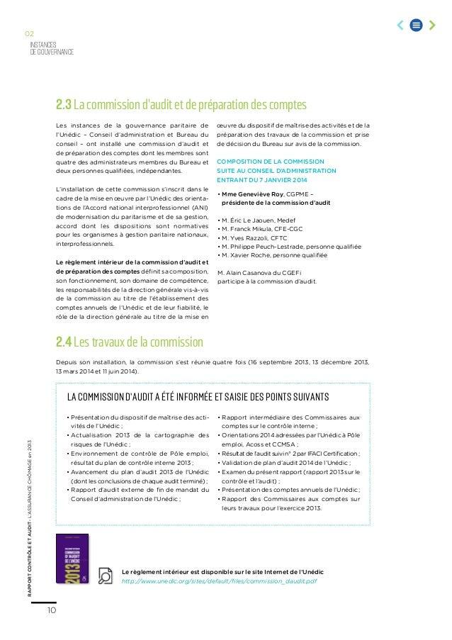 L 39 assurance ch mage en 2013 rapport contr le et audit - Mission viel bureau de controle ...
