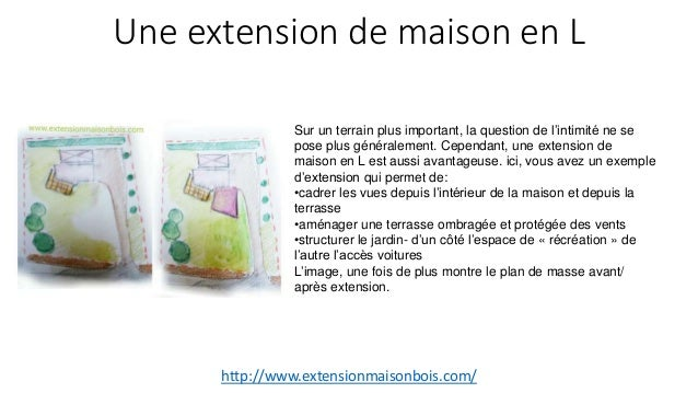 Une extension de maison en l for Extension maison en l