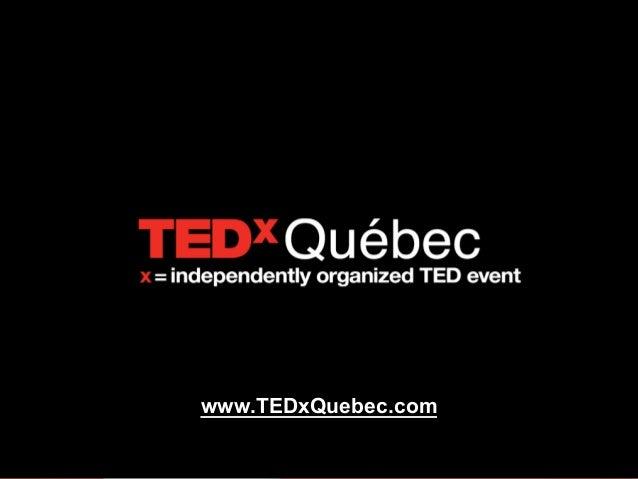 Une main, cinq doigts différents - Youcef Redjouani à TEDxQuébec 2013