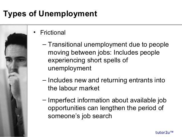 3 types of unemployment There are a number of types of unemployment, defined in terms of cause and severity.