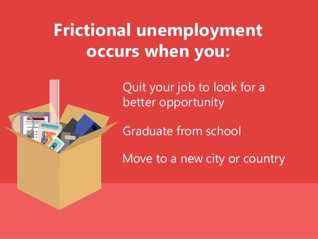 Move to a new city or country Frictional unemployment occurs when you: Quit your job to look for a better opportunity Grad...