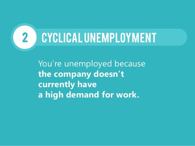 CyclicalUnemployment2 You're unemployed because the company doesn't currently have a high demand for work.
