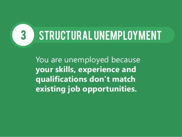 StructuralUnemployment3 You are unemployed because your skills, experience and qualifications don't match existing job opp...