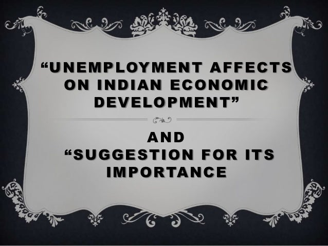 Affect of unemployment in economy essay