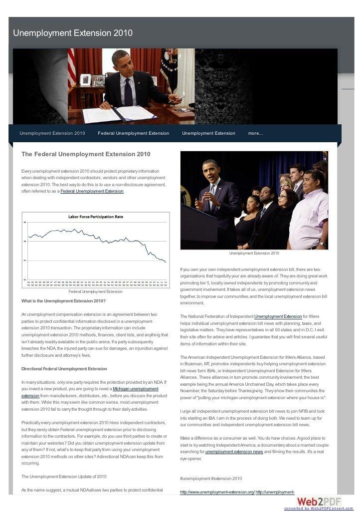 Unemployment Extension 2010 Unemployment Extension 2010                Federal Unemployment Extension             Unemploy...