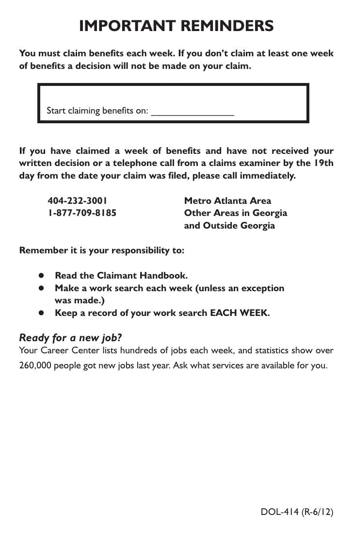 Unemployment file 29 33 important remindersyou must claim benefits xflitez Choice Image