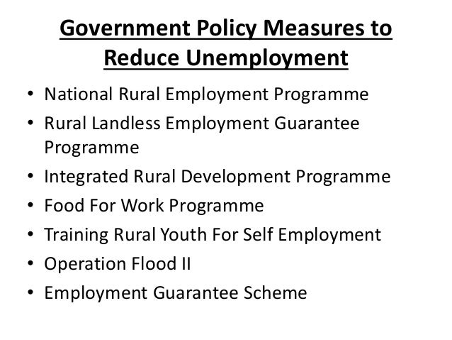 ways to reduce unemployment The ways to improve unemployment rate in malaysia  unemployment was demonstrated to reduce  unemployment is a problem that we have to control.