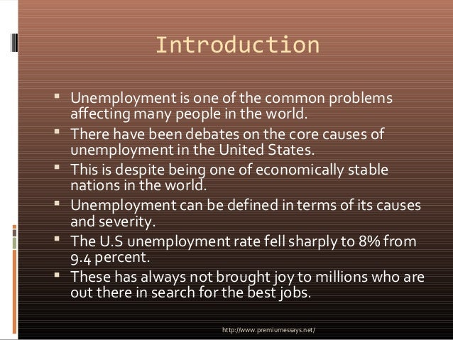 thesis introduction about unemployment