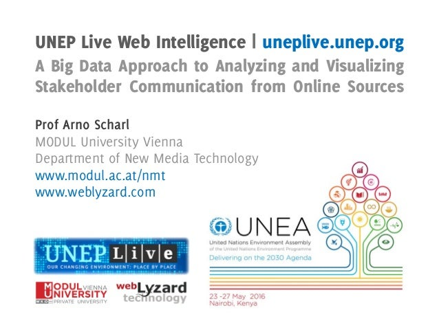 UNEP Live Web Intelligence | uneplive.unep.org A Big Data Approach to Analyzing and Visualizing Stakeholder Communication ...