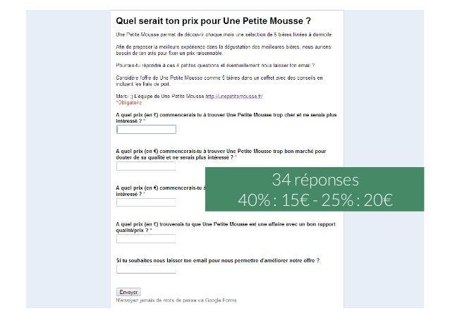 34 réponses 40% : 15€ - 25% : 20€