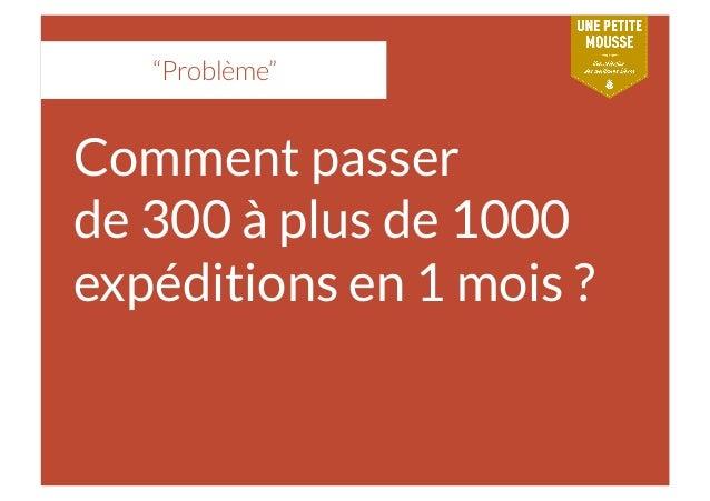 """""""Problème"""" Comment passer de 300 à plus de 1000 expéditions en 1 mois ?"""