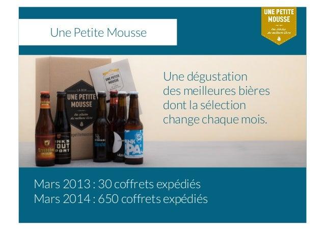 Une Petite Mousse Une dégustation des meilleures bières dont la sélection change chaque mois. Mars 2013 : 30 coffrets expé...