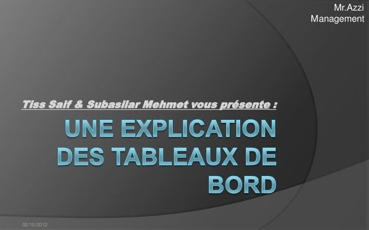 Mr.Azzi                                               ManagementTiss Saif & Subasilar Mehmet vous présente :02/10/2012