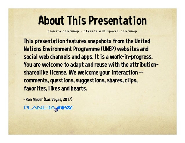 United Nations Environment Programme on the Social Web Slide 2