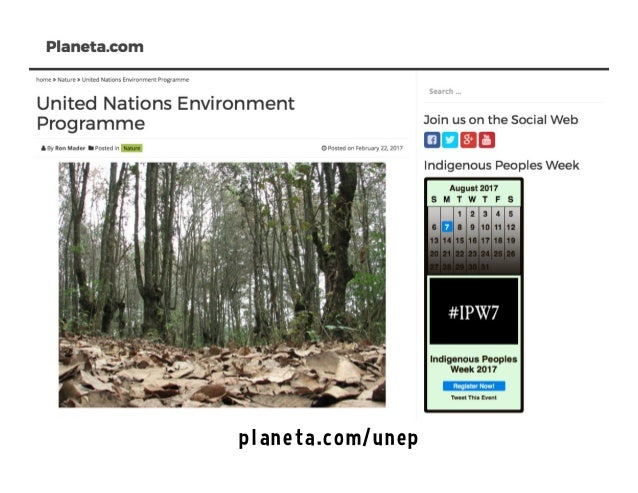 United Nations Environment Programme on the Social Web Slide 3