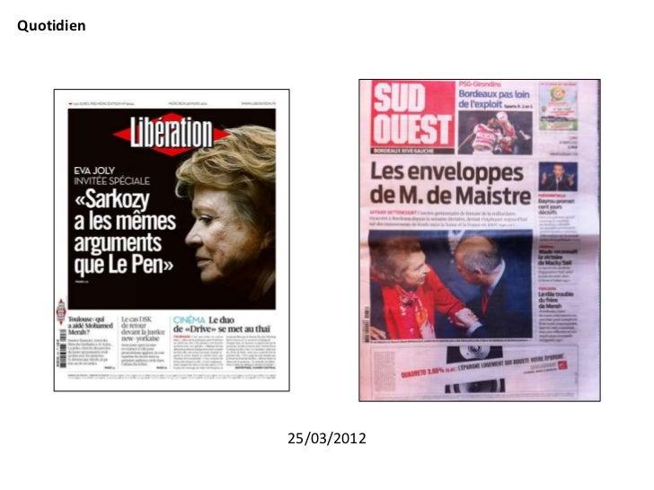 Quotidien            25/03/2012