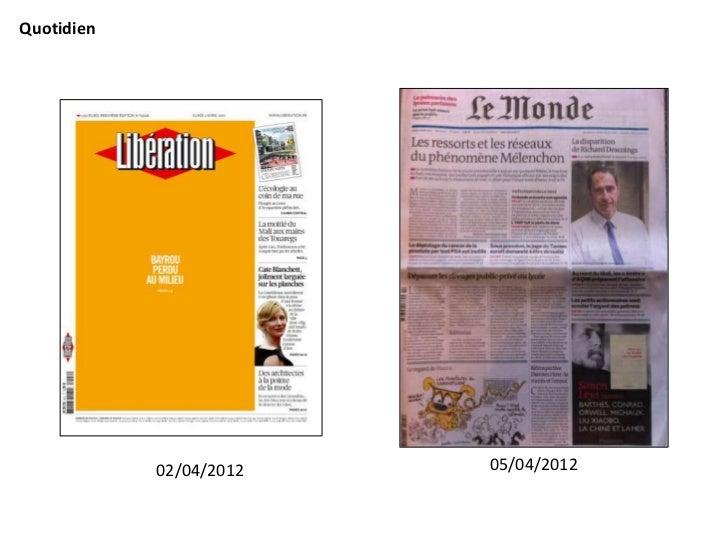 Quotidien            02/04/2012   05/04/2012