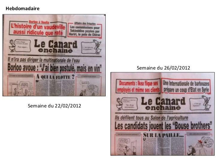 Hebdomadaire                               Semaine du 26/02/2012       Semaine du 22/02/2012