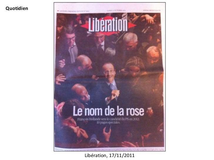 Quotidien            Libération, 17/11/2011