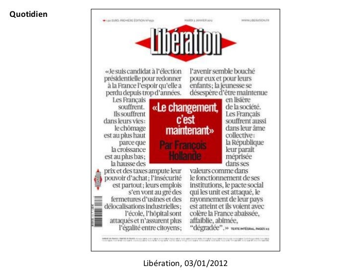 Quotidien            Libération, 03/01/2012
