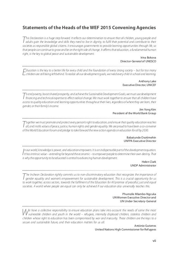 unesco education 2030 framework for action