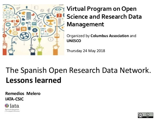 Virtual Program on Open Science and Research Data Management Organized by Columbus Association and UNESCO Thursday 24 May ...