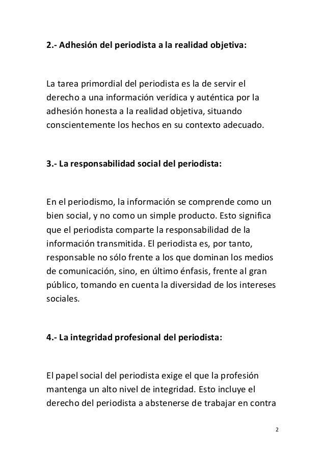 UNESCO Código Internacional de Ética Periodística Slide 2