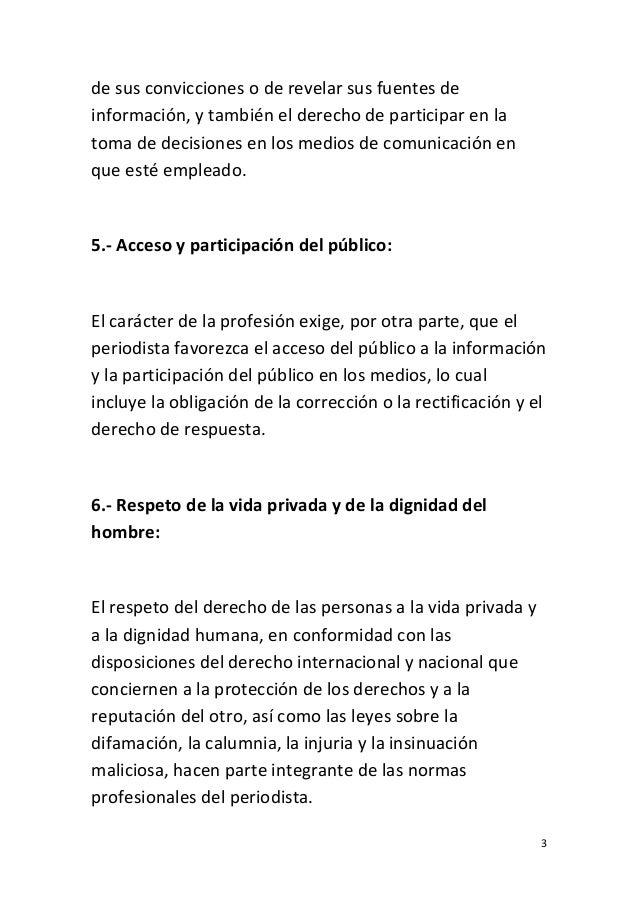UNESCO Código Internacional de Ética Periodística Slide 3