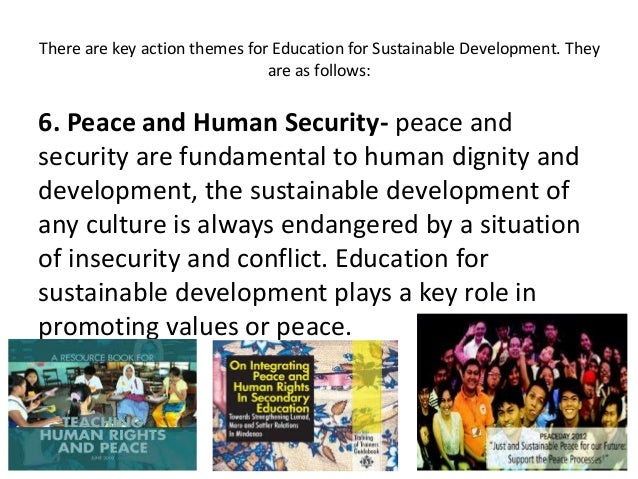 role of education in sustainable development Full-text paper (pdf): role of education in sustainable development of the nation.