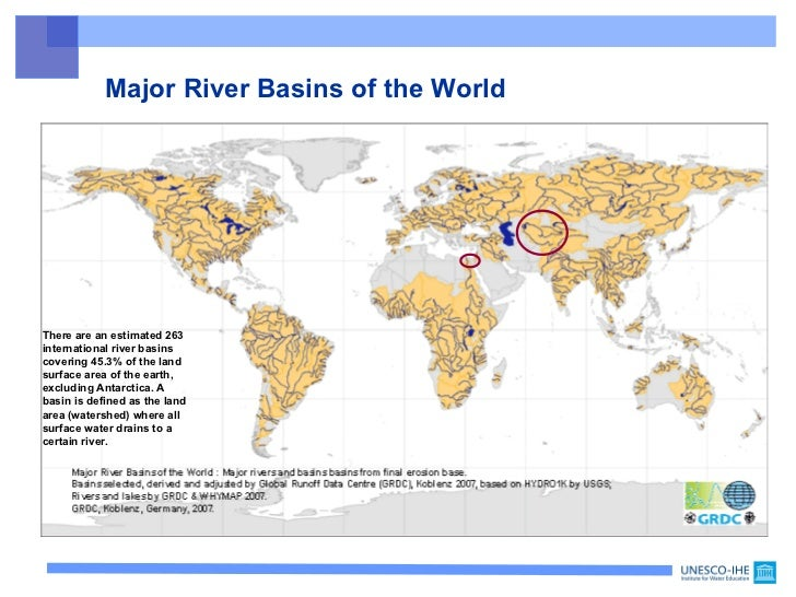 UNESCO Transboundary Waters - River basins of the world