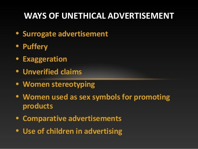 unethical advertising to children