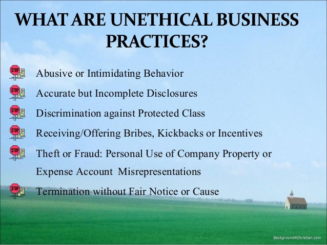 ethical and unethical business events Start studying chapter 5 ethical decision making learn vocabulary top management's leadership on ethical issues, the influence of coworkers, and the opportunity for unethical a normative approach for business ethics is concerned with general ethical values implemented into business.