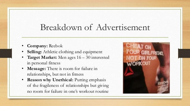 unethical adverting Best answer: unethical advertising is when you promise something you cannot deliver for instance in the fitness industry, you advertise that you guarantee a weight loss of 50 pounds per month with your program you cannot possible deliver that to every person who comes into your gym in addition to this is.