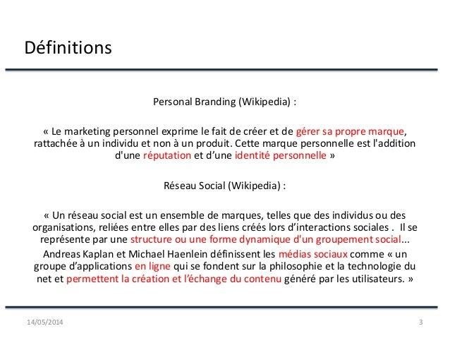 Conference : Une utilisation professionnelle des Réseaux et Médias sociaux Slide 3