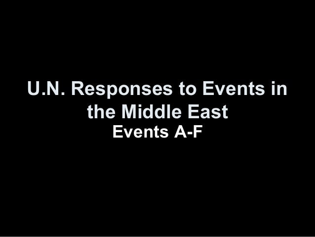 U.N. Responses to Events inthe Middle EastEvents A-F