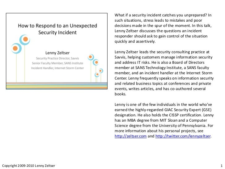 What if a security incident catches you unprepared? In                                    such situations, stress leads to...