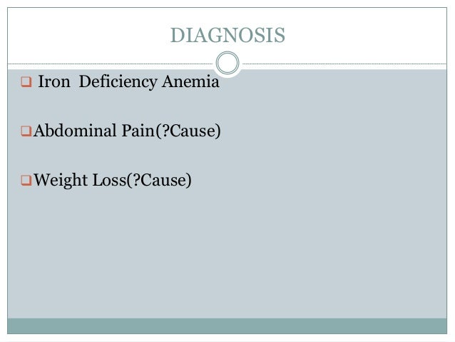 anemia and weight loss causes